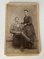 CDV Photo Little Falls NY Abbott Husband Wife New York Antique Photograph