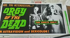 Orgy of the Dead Ed Wood Criswell poster sexicolor and day glow inks!! pure cool