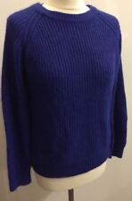 Forever21 Ladies Blue Long Sleeved Thick Jumper US Size M Fisherman Rib