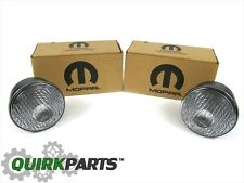 2007-2018 Jeep Wrangler JK Pair of CLEAR Park Turn Signal Lamps Mopar OEM NEW