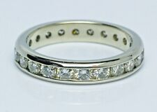 Platinum 2.20 Ct  Channel Diamond Eternity Ring Wedding Band Sz. 8.75 GIA