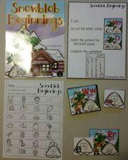 Teacher Made Literacy Beginning Sounds Winter Snow Supplies phonics centers Game