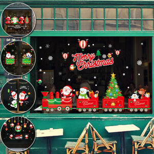Merry Christmas Gift Wreath Wall Window Stickers Decals XMAS Home Shop Decors