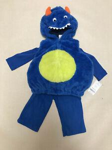 Carters Halloween Costume Baby Boy 3 6 Months Monster 3-Piece Set Blue Pants Tee