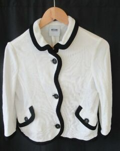 Women's Moschino Cheap And Chic  Cropped Waist Length White  Jacket Size 12