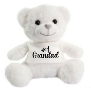 Number 1 Grandad father day super soft cuddly Christmas gift Birthday Teddy Bear