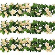3 X 8Ft Artificial Rose Garland Silk Flower Vine Ivy Wedding Garden Party Décor