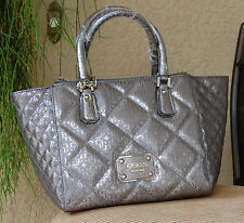 NWT Beautiful GUESS Ophelia East/West Status Satchel Handbag Color Pewter