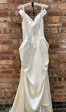 Hilary Morgan wedding dress Gold Ivory, Size 12