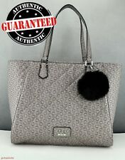 Neuf Guess Femme Original Sac Authentique Taupe Globes Satchel Tote