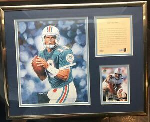 Limited Edition Kelly Russell Dan Marino Nfl Miami Dolphins Matted Print #530