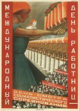 Soviet Constructivism INTERNATIONAL WOMEN DAY Russian Propaganda Poster