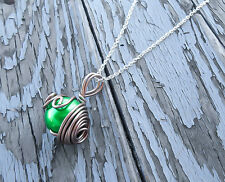 Final Fantasy 7 Green Materia Pendant FF7 Jewelry Videogame Necklace Geekery