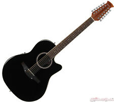 Ovation Applause Standard 12-String Acoustic Electric Guitar - Black AB2412II-5