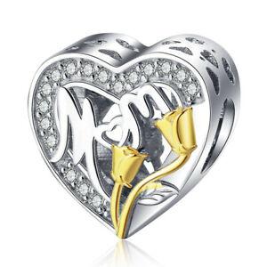 Diy1Pcs Silver European Cz Charm Crystal Spacer Beads Fit Necklace Bracelet A069