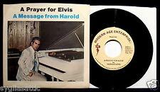 ELVIS PRESLEY-HAROLD LOYD-A Prayer For Elvis-Mega Rare Picture Sleeve+45-N Mint