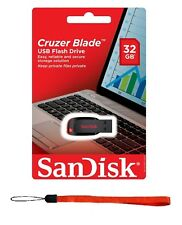 NEW SanDisk Cruzer 32GB BLADE USB Flash Pen Thumb Drive SDCZ50-032G RETAIL PACK