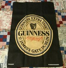 Guinness Pure Irish Linen Bar Towel Black & Gold Arthur Guinness Extra Stout