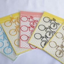 3* Bicycle Metal Bookmark Planner Paper Clip Book Stationery School Portable SJ