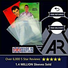 "10 7"" Inch 250g Gauge Plastic Polythene Record Sleeves - 45RPM Vinyl Covers"