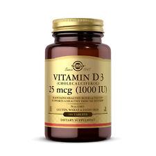 Solgar, Vitamin D3, 25mcg (1000IU), 180 Tabletten - Blitzversand