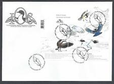 2018 Birds of Canada Limited FDC with Overprinted Souvenir Sheet