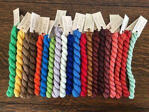 Silk & Ivory Lot of Silk/Merino Skeins. Lot of 20. 28.8 yds.(13).