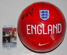 WAYNE ROONEY signed (ENGLAND) MANCHESTER UNITED *PROOF* DC Soccer ball JSA