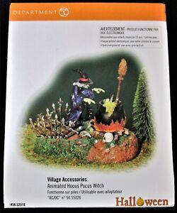 Dept 56 - Snow Village Halloween - Animated Hocus Pocus Witch #56.52516 - MINT