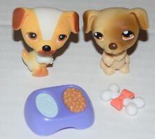 Littlest Pet Shop 2 Different Jack Russell Dog Puppy Lot #40 #109 Authentic LPS