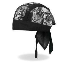 Smokin Five Skulls Head Wrap Durag Skull Cap Biker