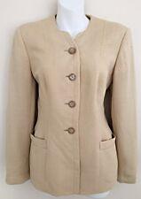 Vtg Giorgio Armani Le Collezioni Italy Women Sz 8 Cream Blazer Jacket Button Up
