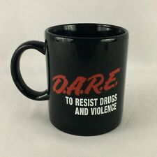 VTG 90s DARE To Resist Drugs And Violence Coffee Mug Cup Just Say No Education