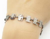 925 Sterling Silver - Vintage TC Broadway Font Name Bracelet - B1459
