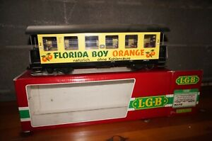 Rfa ] LGB G Scale 3072 Florida-Boy Passenger Car Wangerooge with Lighting Boxed