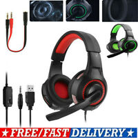 3.5mm Gaming Headset with Mic Headphones Surround For PC Laptop PS4 Xbox One New