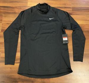 NEW Nike Pro Therma Mock Top Long Sleeve L/S Shirt Men's Large L Black CJ0954