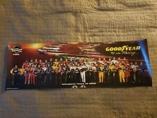 "GoodYear NASCAR panoramic class poster of 2001 Dale Earnhardt 36 X 11.5"" RARE"