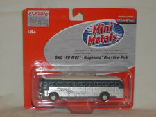 MINI METALS HO SCALE GMC PD 4103 GREYHOUND BUS / NEW YORK 1:87 SCALE