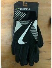 Nike Men's D‑Tack 5.0 Lineman Football Gloves Gf0385-419 Black/White Size Xlarge