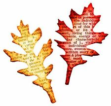 Sizzix Mini Tattered Leaves magnetic die set #657460 Retail $15.99 Tim Holtz!!