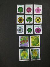 MOMEN: SINGAPORE 1973 FLOWERS PLANTS IMPERF MINT OG NH LOT #3913