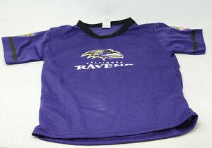 Franklin Sports Baltimore Ravens Kids Small Mesh T Shirt Purple