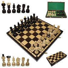 """Schachbrett mit Schachfiguren 40,5x40,5cm, Schachspiel """"Anna"""", Schach aus Holz"""