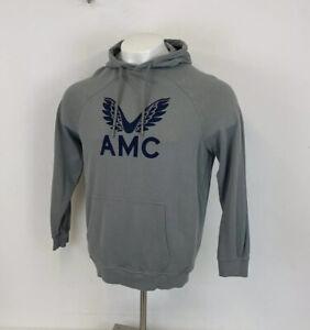 Andy Murray Castore x AMC Hoodie Grey & Navy Blue Sz Large Mens