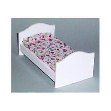 12th échelle de l'enfant lit blanc pour maisons de poupées