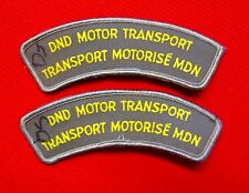 Canadian Armed Forces / Canadian Army Lot of 2 DND Motor Transport Patches knu1