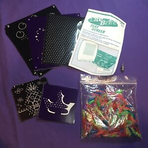 Lite Brite Replacement Pieces For Flat Screen 2.5V Bulb Pegs Pattern Instruction