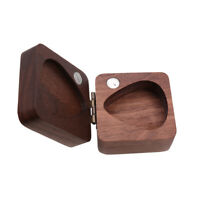 Walnut Guitar Pick Box Plectrum Holder Case for Guitar Lover Musical Gift