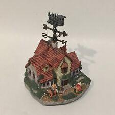 "Cottage House Musical Figurine Resin Base ""Amazing Grace"" Hymn"